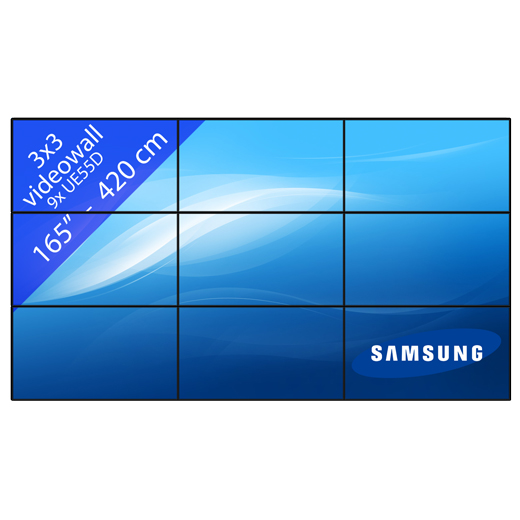 Video wall 3×3 – 165″ / 420 cm