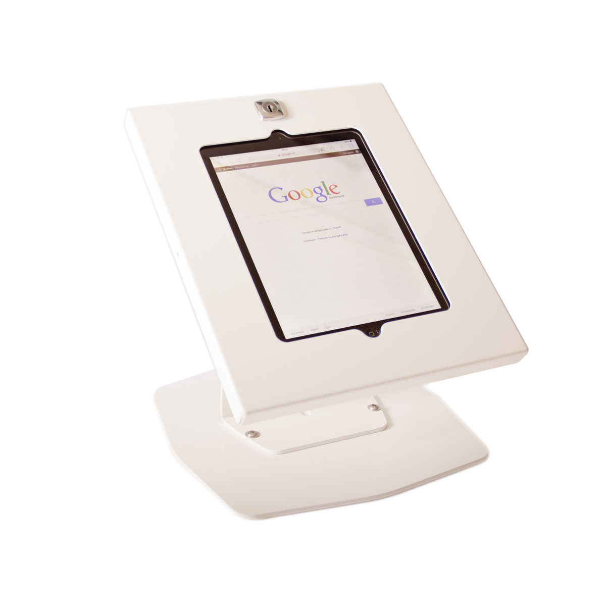 Tablet table stand white