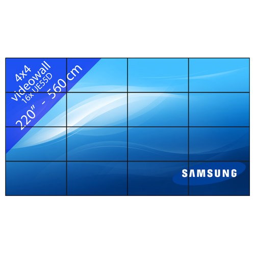 Video wall 4×4 – 220″ / 560 cm
